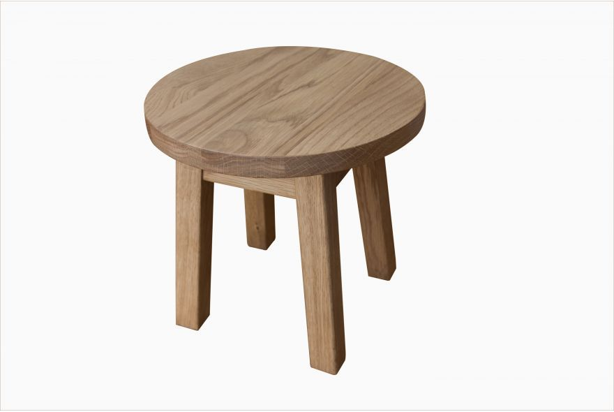 Solid oak Daisy children's stool.  Small wooden stool for toddlers and young kids.