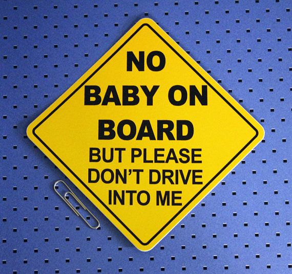 no baby on board v2 bumper sticker by customstickermakers on etsy