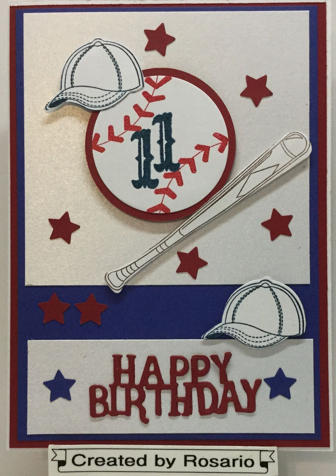 Birthday Card Baseball Game Cards Kids Cards Cards Handmade
