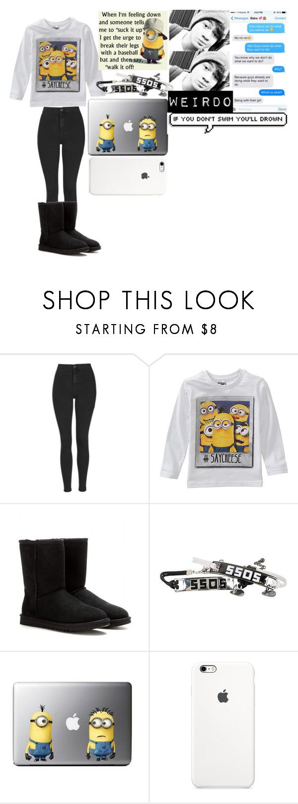 """Gimme mah book"" by chichipie ❤ liked on Polyvore featuring beauty, Topshop and UGG Australia"
