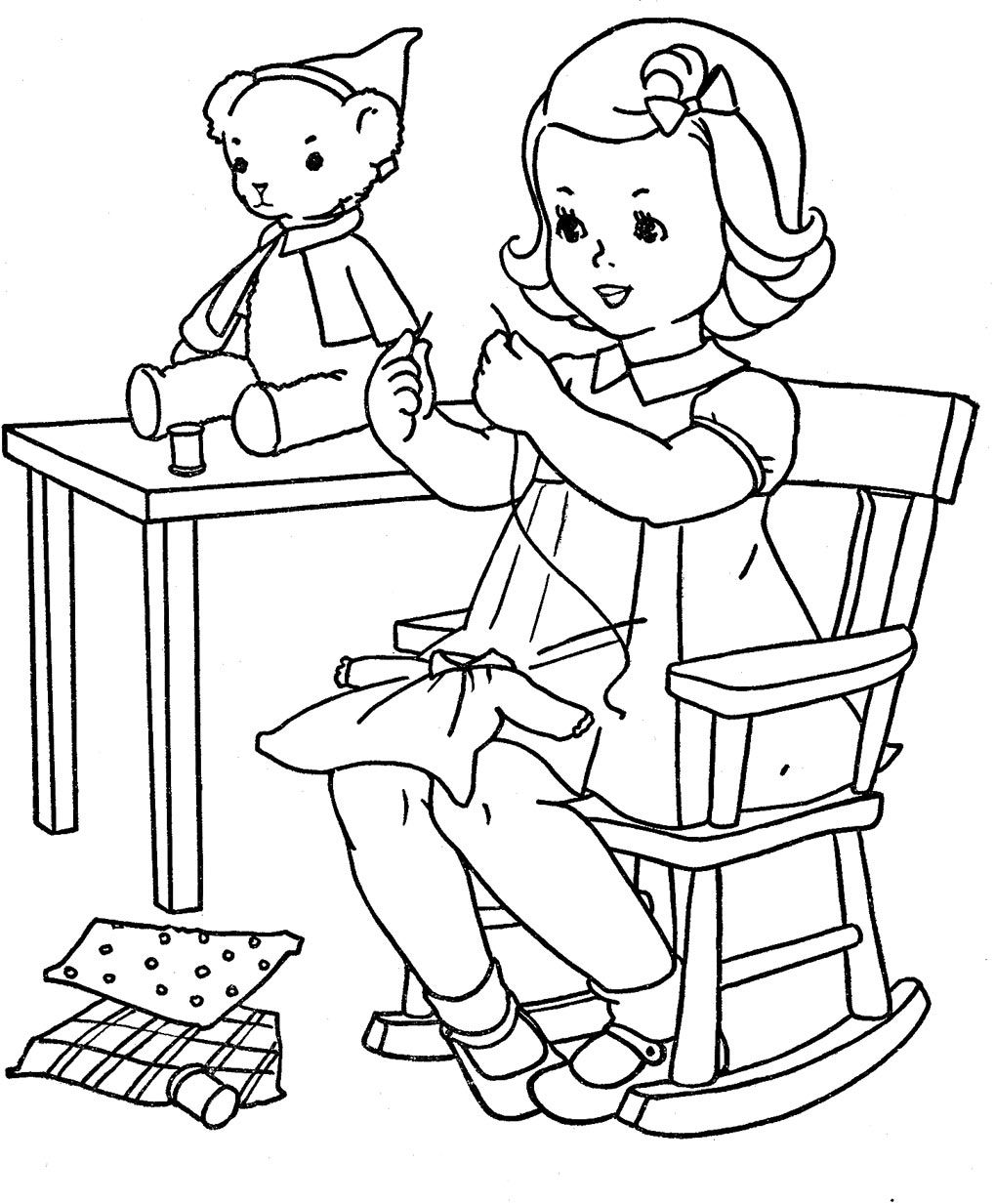Q is for Quilter  Blog Archive  Favorite Paint Book  Little Girls
