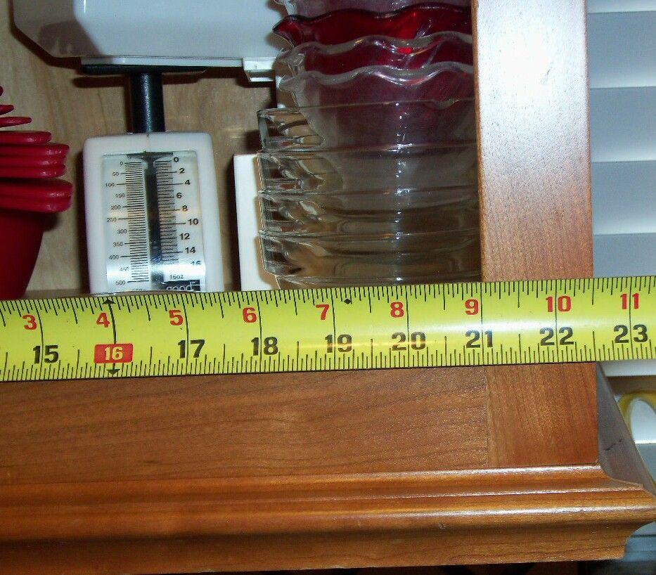 Measure width of the door opening to nearest 1/16