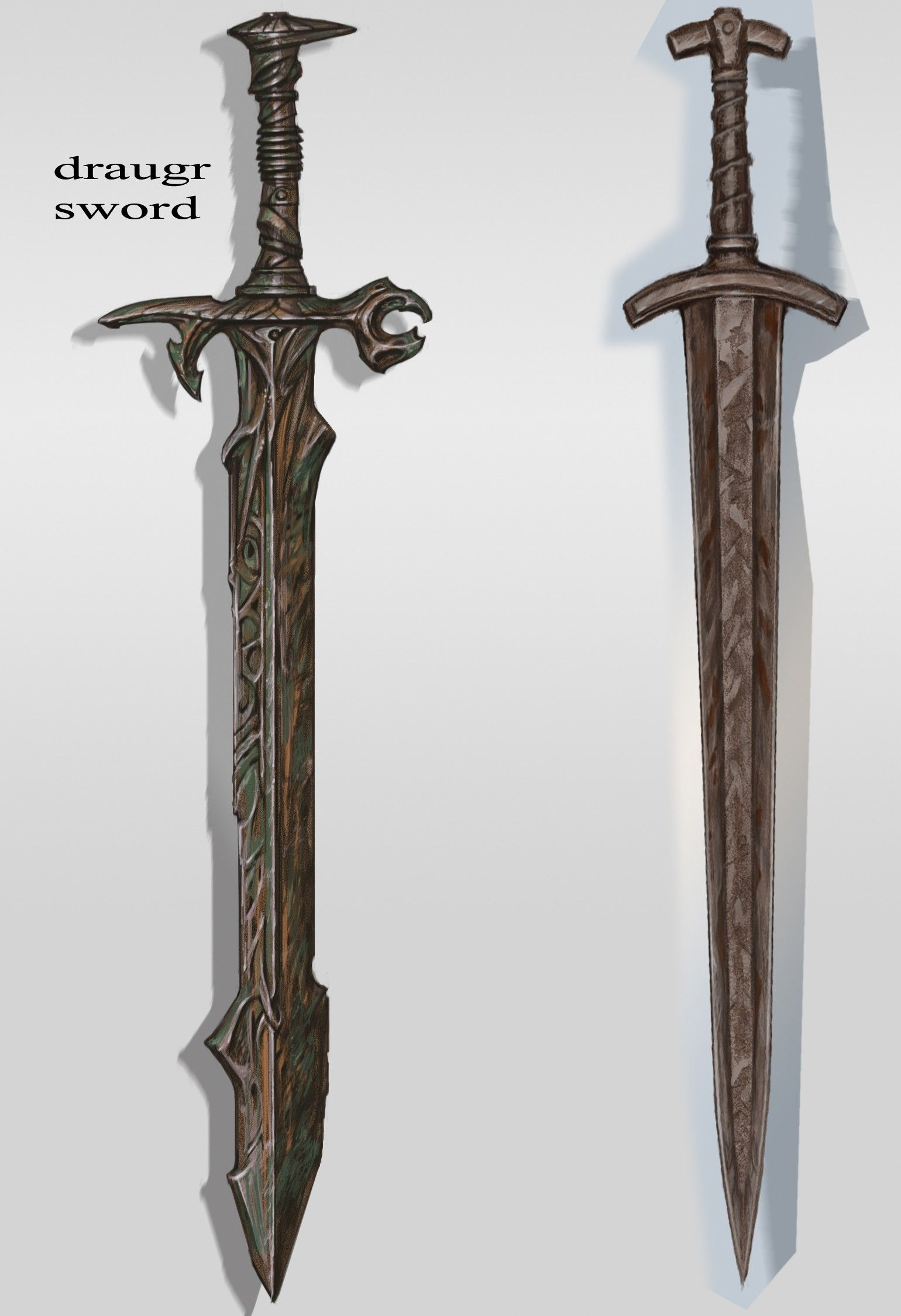 Skyrim 183 Draugr Sword By Adam Adamowicz The Elder