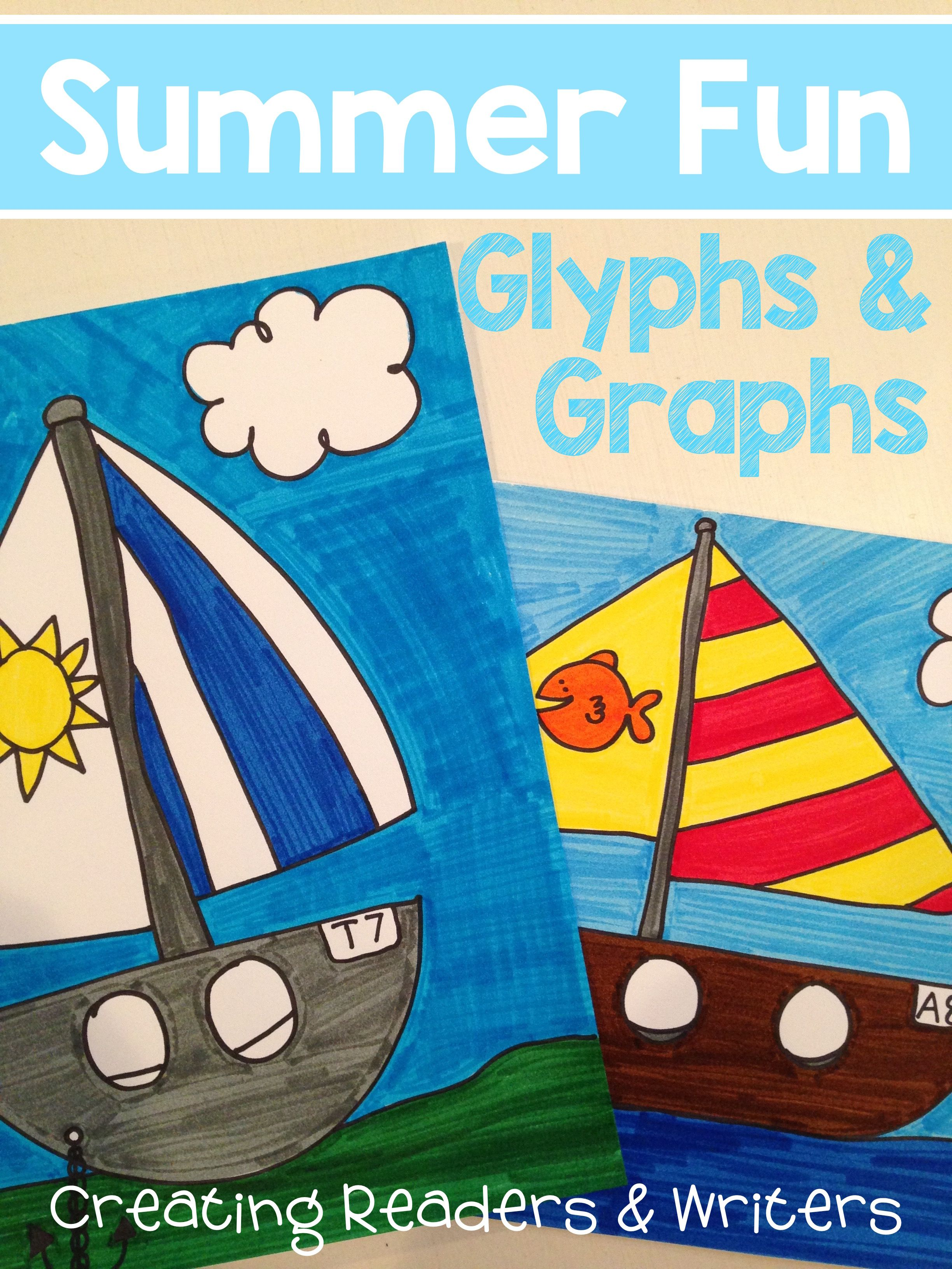 Summer Fun: A GLYPH & GRAPH Math Activity for the End of the Year ...