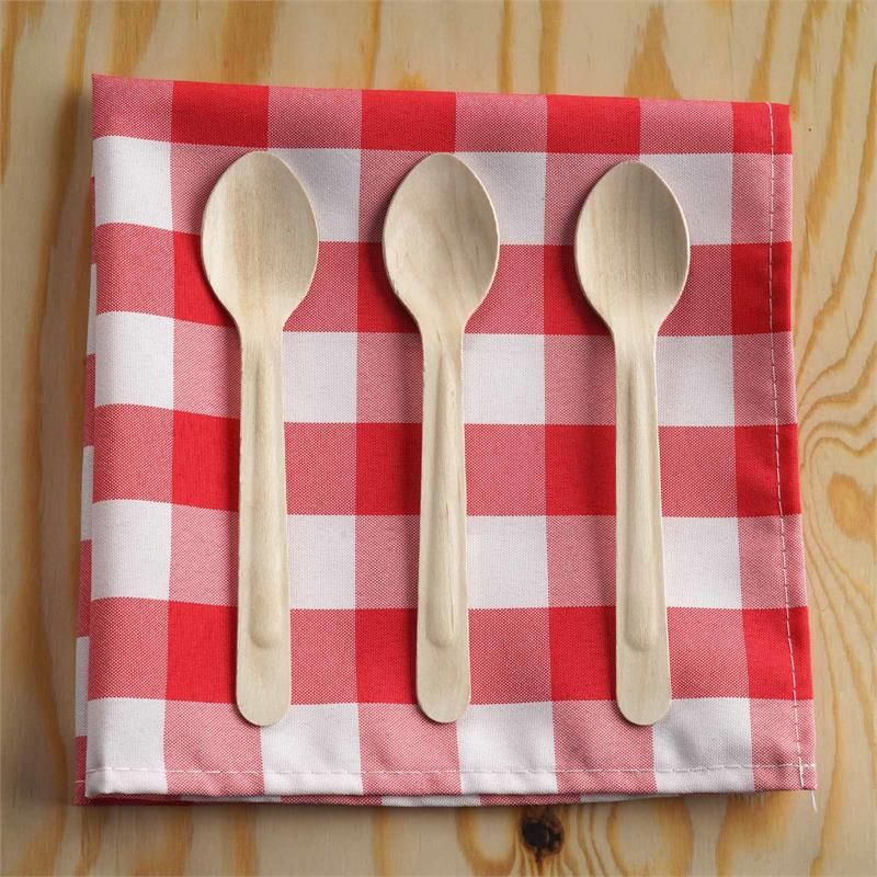Wooden Spoons Birchwood Disposable Dessert Spoons Pack of 100 Biodegradable Spoons