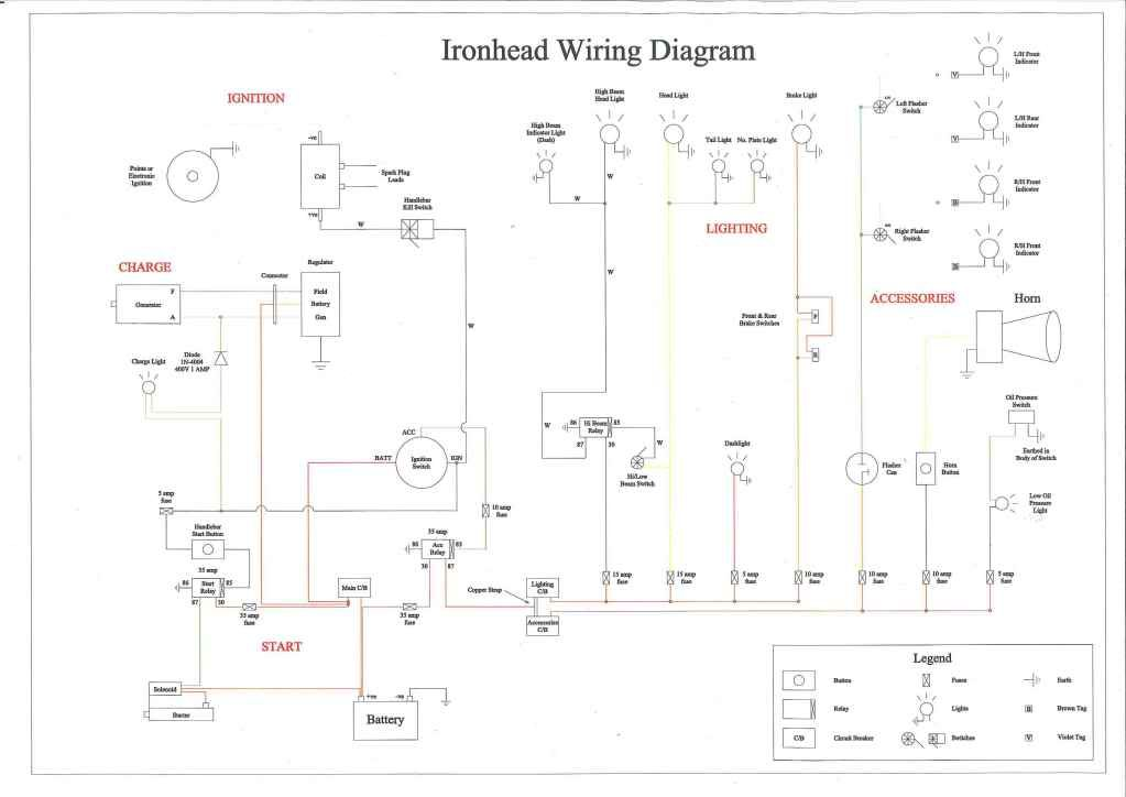 Ironhead Wiring Diagram | Motorcycle | Buell motorcycles ... on