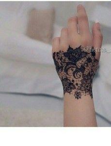 Hello Gorgeous Hand Lace Glove Mehendi Design Tat Tattoos