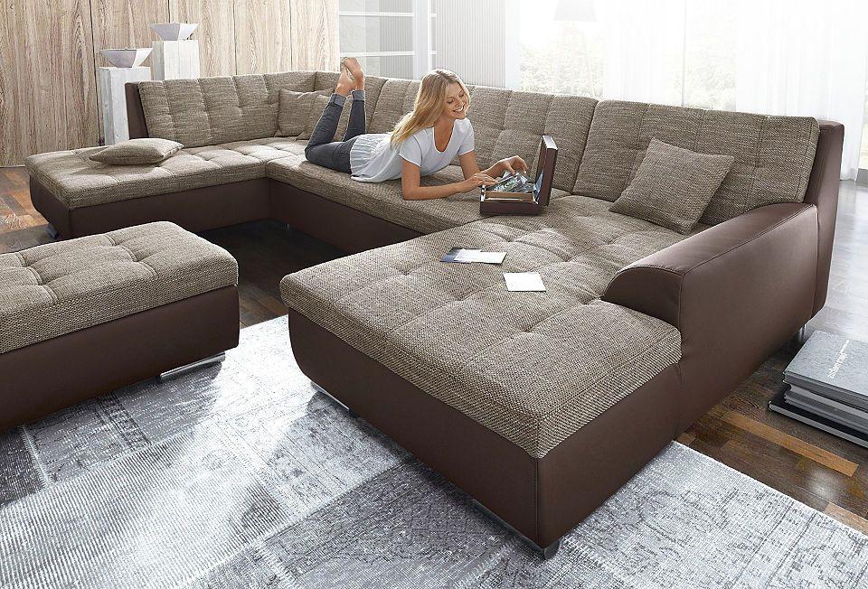 XXL-Wohnlandschaft, wahlweise mit Bettfunktion Jetzt bestellen unter - big sofa oder wohnlandschaft