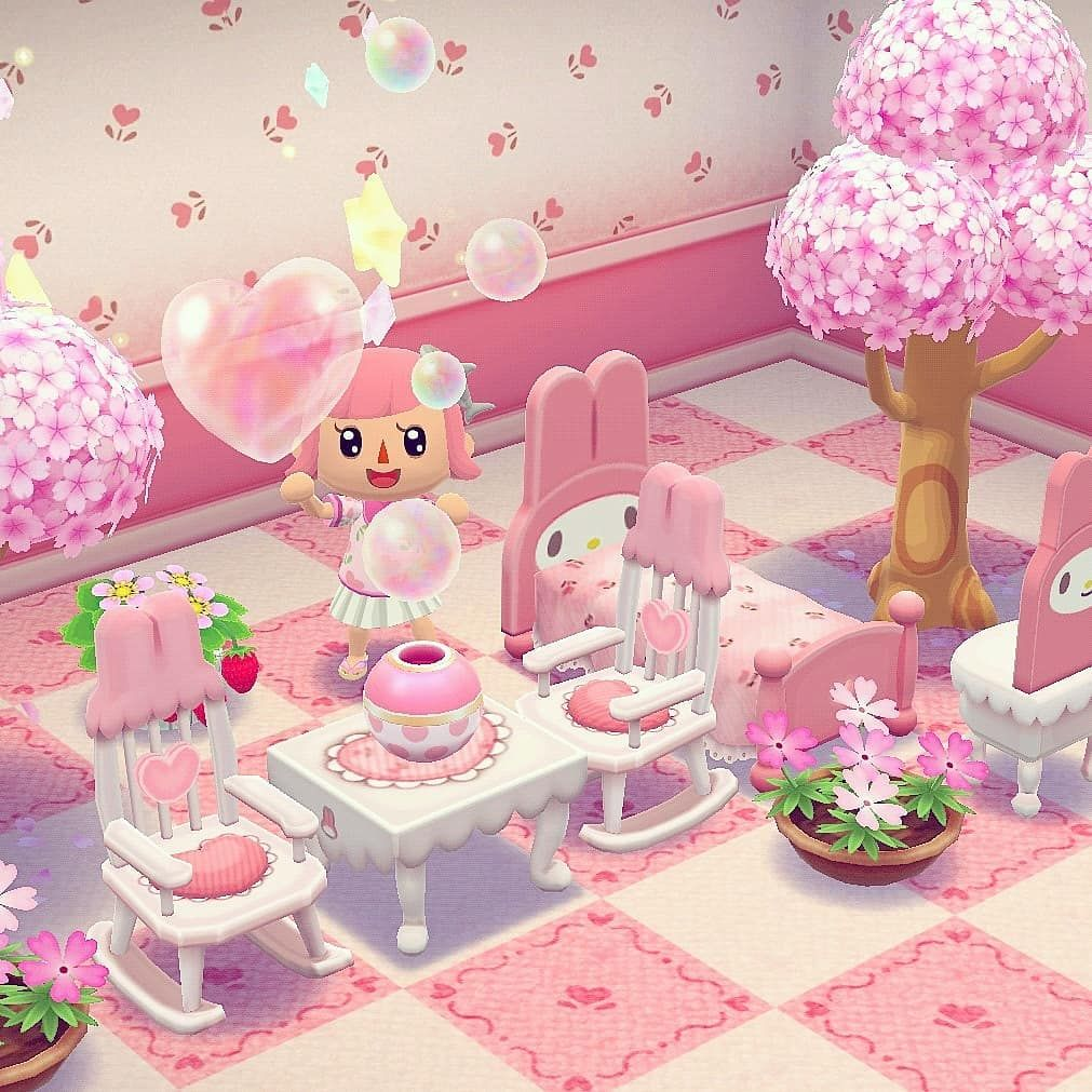 "🌷Camper Cutie🌷 on Instagram: ""The amount of pink in this design of mine just gives me life🥰🌸🎀 #acpc #pocketcamp #animalcrossingpocketcamp #animalcrossing #nintendo #app…"""