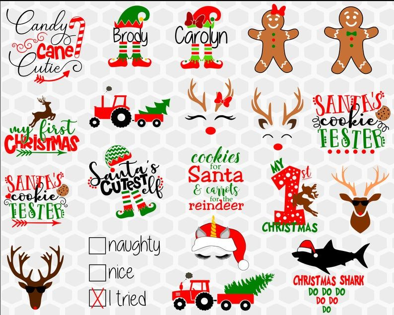 Christmas Svg Craft Bundle Christmas Svg for signs shirts sweater baubles /& ornaments Christmas Svg files for Cricut Christmas bundles
