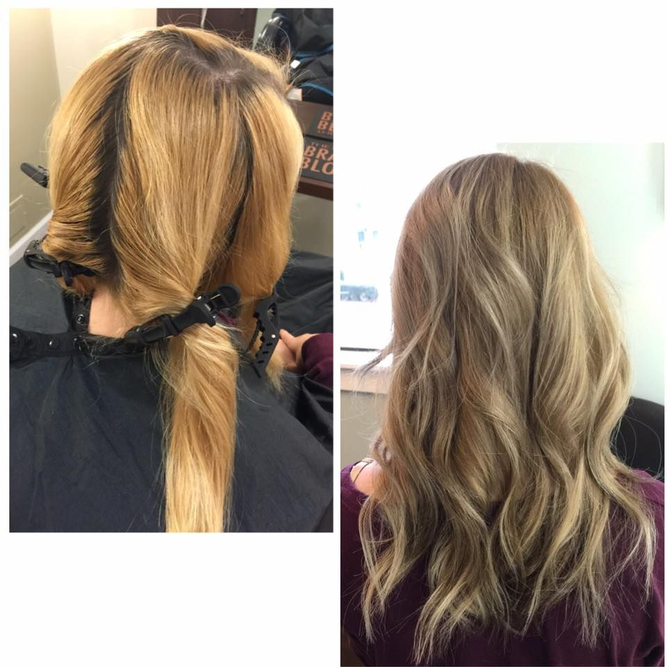 Brassy Blonde To A Cool Blonde Color Melt By Kaitlyn At Radura Salon