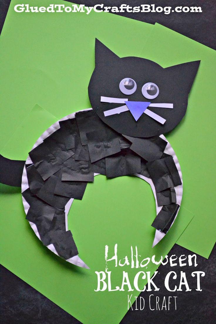 Halloween Black Cat Kid Craft | Halloween black cat, Black cats and Cat