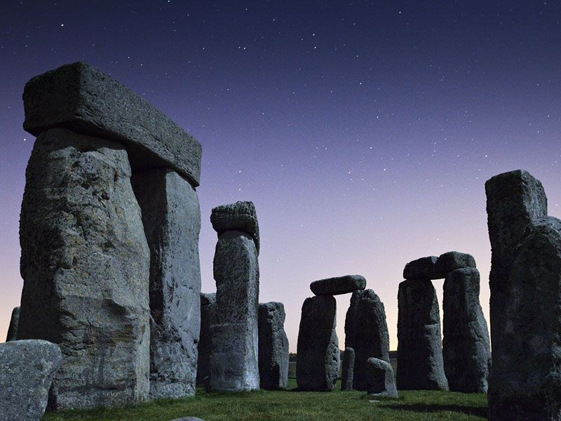 Stonehenge straight from the old country continent in Europe