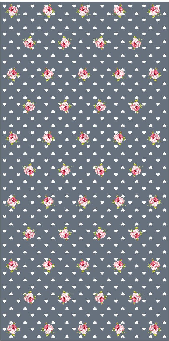 Vinyl wallpaper. Self-adhesive hearts and roses on by Yaelyaniv