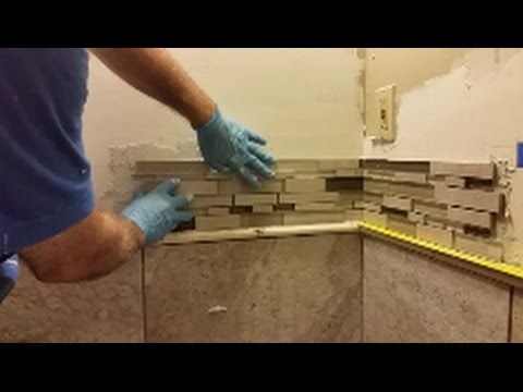 How To Install Mosaic Tile On An Inside Corner Glass Mosaic Tile Youtube Glass Mosaic Tiles Mosaic Bathroom Accessories Mosaic Glass