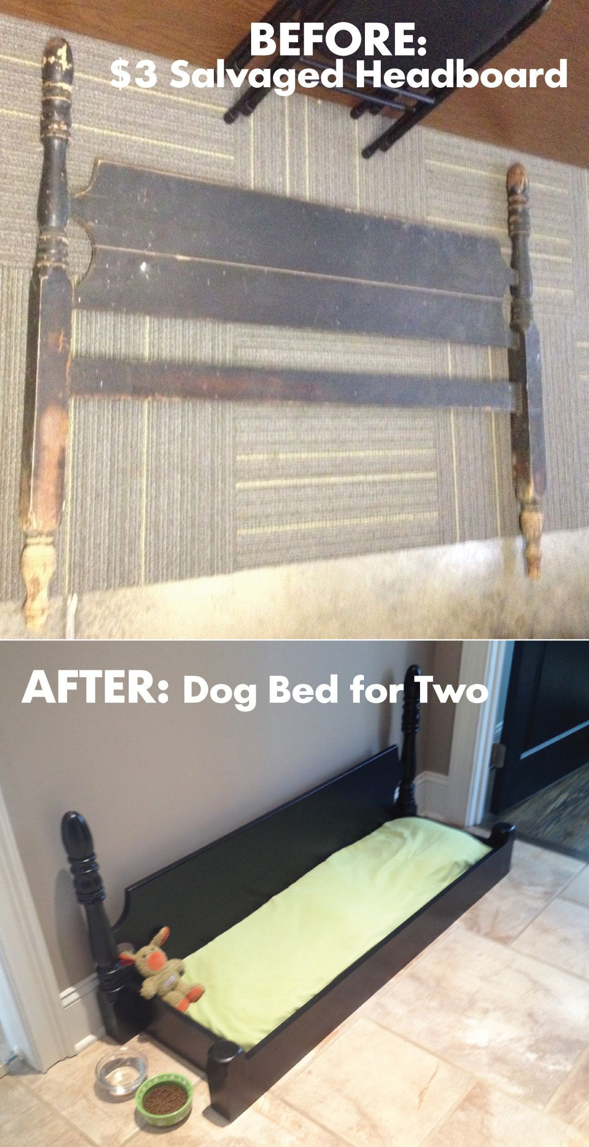 From Headboard to Dog Bed (With images) Diy dog stuff