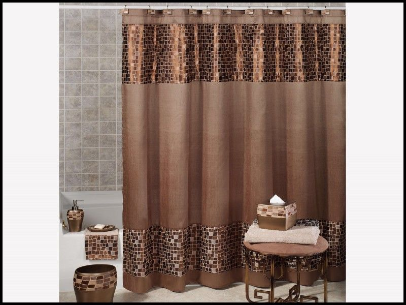 Unique Fleur De Lis Shower Curtain Brown Horden Rumah Rumah