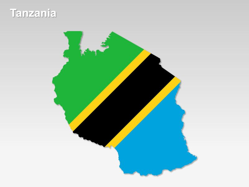 Editable PowerPoint Map Tanzania Map Editable PowerPoint