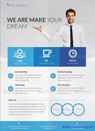 Clean-\-Modern-Corporate-Flyer brochure Pinterest Flyer - web flyer