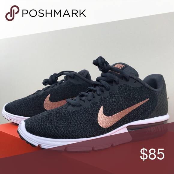 electrodo robo esperanza  NIB Nike Air Max Sequent 2 black & rose gold RARE! | Running shoes fashion, Nike  air max, Nike