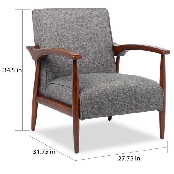 Astounding Carson Carrington Gracie Mid Century Grey Arm Chair Gracie Dailytribune Chair Design For Home Dailytribuneorg