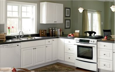 1323217730Hamptonwhiteproduct 394×247 Color  Green  St Gorgeous Lowes Kitchen Cabinets White Design Inspiration