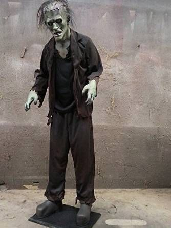 Scary Monster Moaning Motion Activated Life Size Prop Halloween - scary halloween props