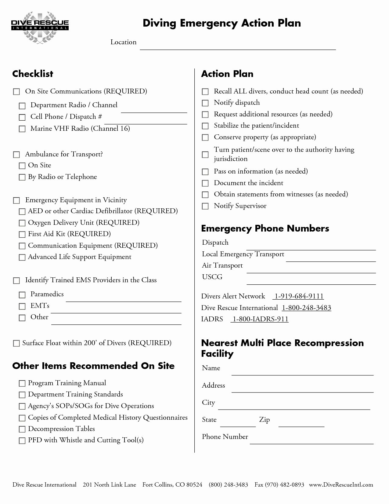 Osha Emergency Action Plan Template Inspirational