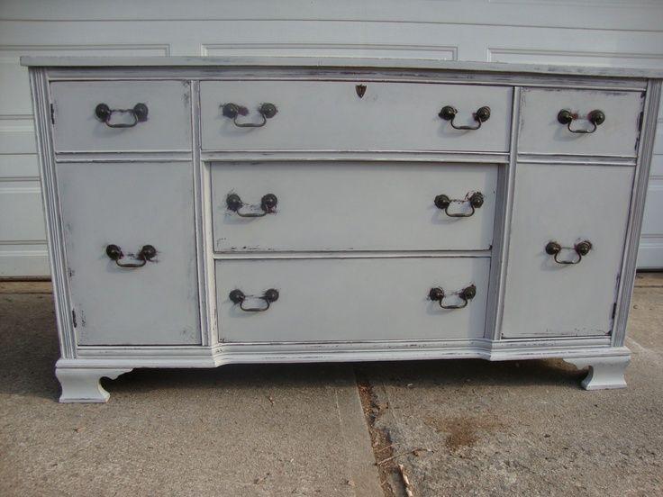 annie sloan paris grey kitchen cabinets distressed ...
