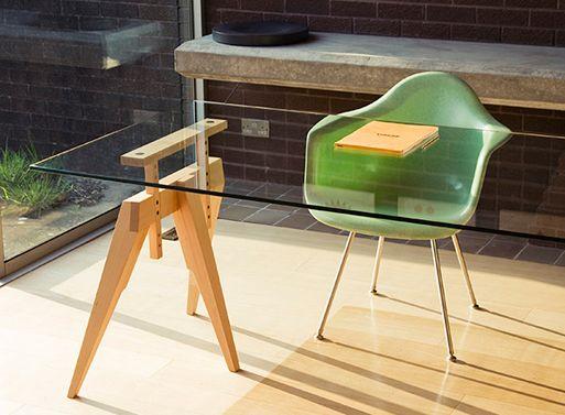 Compass Trestle Legs U2014 Desk/Work    Better Living Through Design