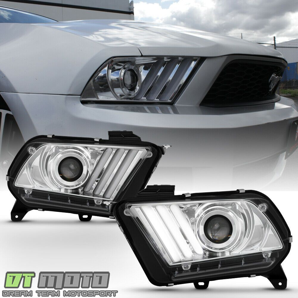 2010-2012 Ford Mustang Smoked LED Tube Sequential Signal Tail Lights Brake Lamps