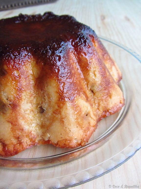 Coco e Baunilha: Pudim de pão de baunilha e rum com passas ::: Bread pudding