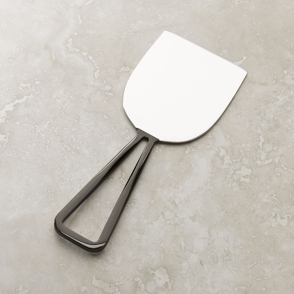 Black Nickel Wedge Cheese Knife + Reviews | Crate and Barrel