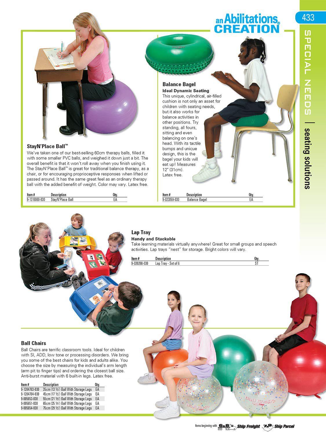 Abilitations Integrations 6 Leg Ball Chair 14 In Dia