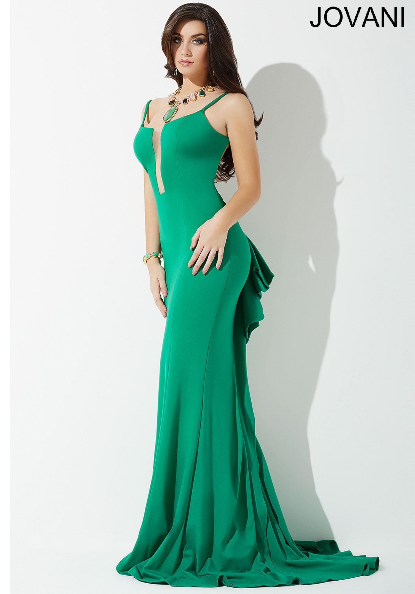 Green Ruffle Back Prom Dress JP29167 - Prom 2016 | Cool stuff to buy ...