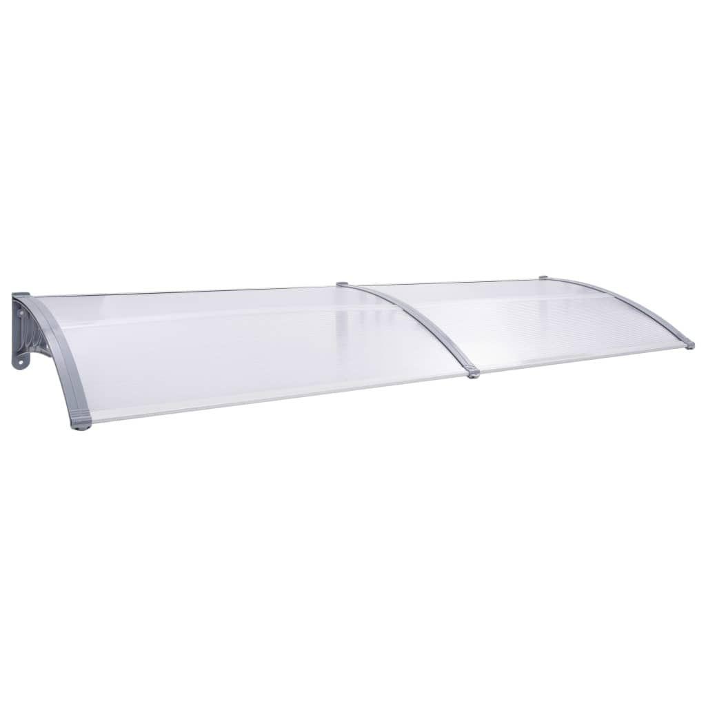 vidaXL Door Canopy Gray and Transparent 78.7″x31.5″PC