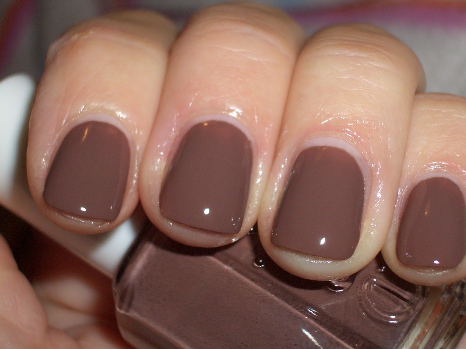 Essie Hot Cocoa. Great fall color on Essie