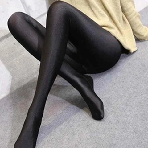Classic Pvc spandex wetlook black lace top stockings size regular 34 inch length