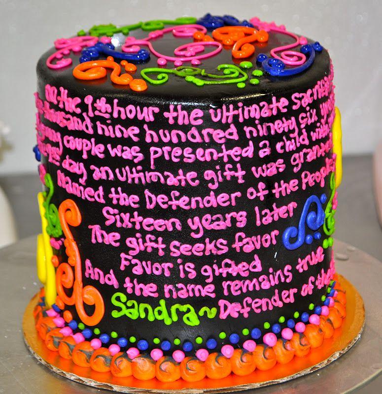 Black Light Cake Cake Decorating Pinterest Blacklight Party - Neon birthday party cakes