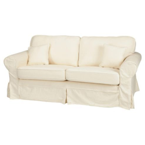 Buy Louisa Small Loose Cover Fabric Sofa Cream Jaquard From Our Fabric Sofas Range Tesco Com Fabric Sofa Bed Fabric Sofa Loose Cover