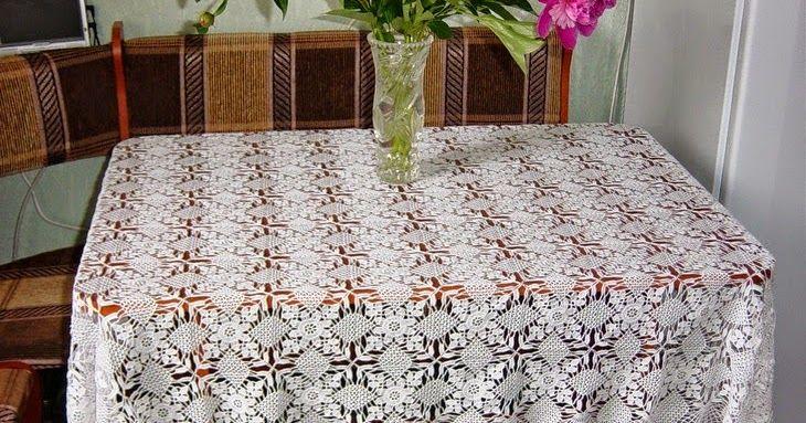Patrón De Mantel Rectangular Para Tejer Al Crochet Manteles Para Mesa Rectangular Manteles Manteles Tejidos