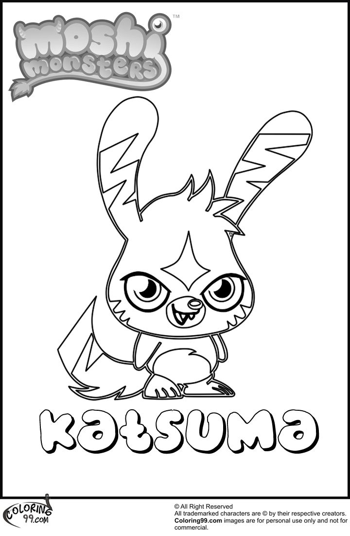 Colouring pages hotel transylvania - Moshi Monsters Katsuma Coloring Pages Hotel Transylvania Coloring