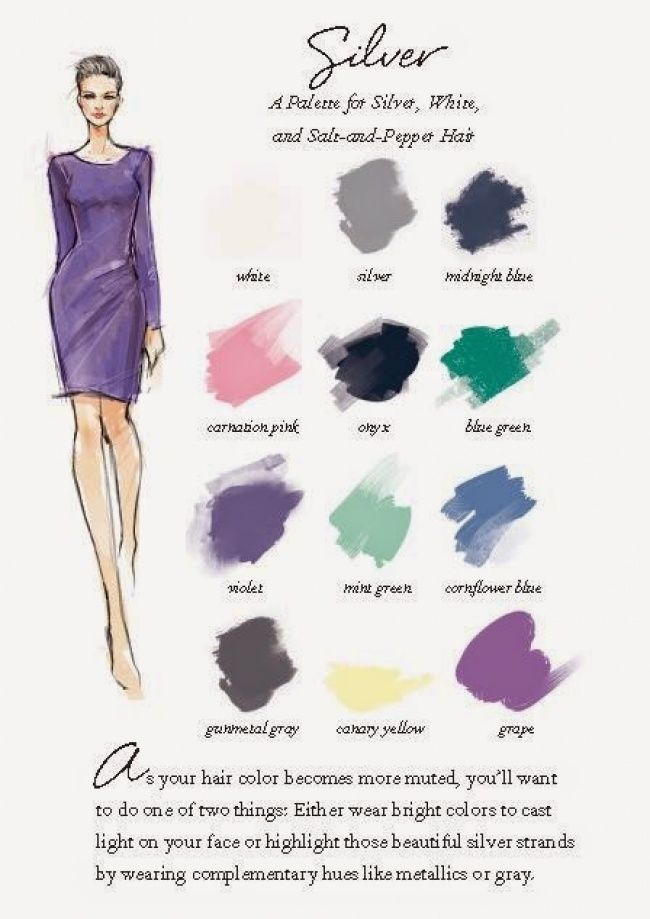 12 Ideal Colour Combinations For Your Hair And Clothes Grey Hair Color White Hair Grey Hair
