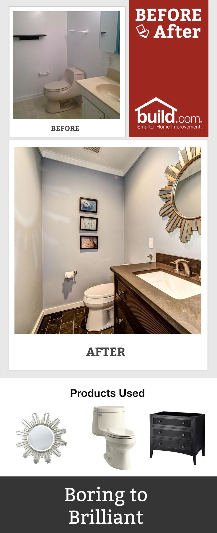 Transform your bathroom with big and small bathroom remodeling ideas, and get the inspiration you need to find the right products. What is your favorite part about this bathroom remodel?