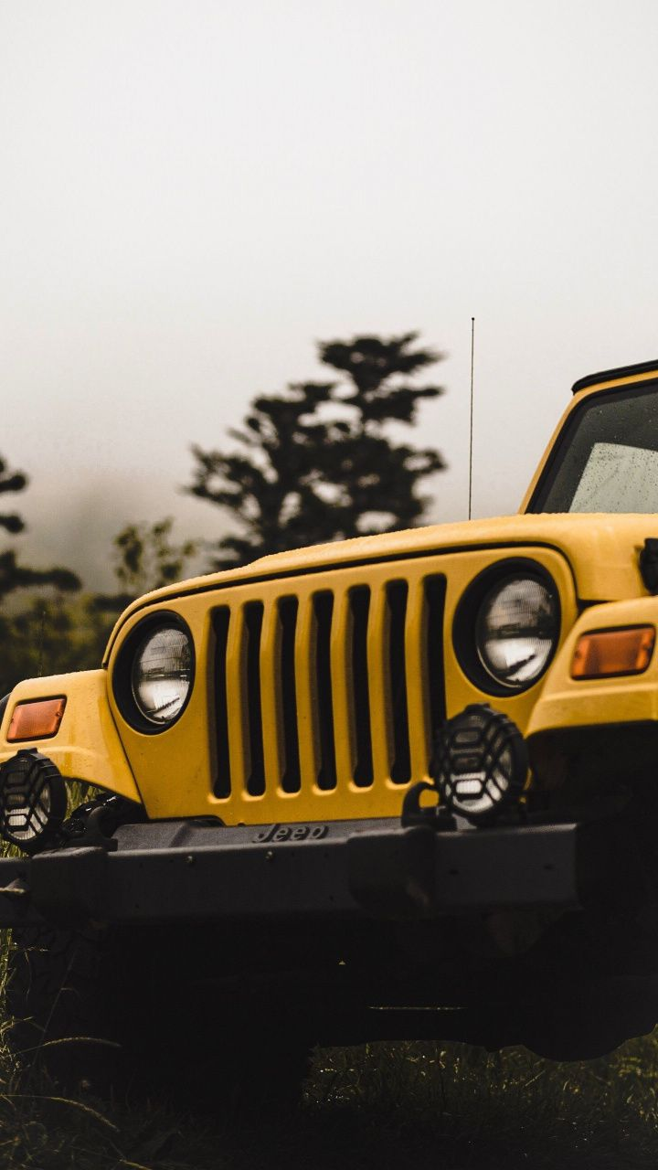 Yellow Jeep Car Front 720x1280 Wallpaper Jeep Photos Jeep