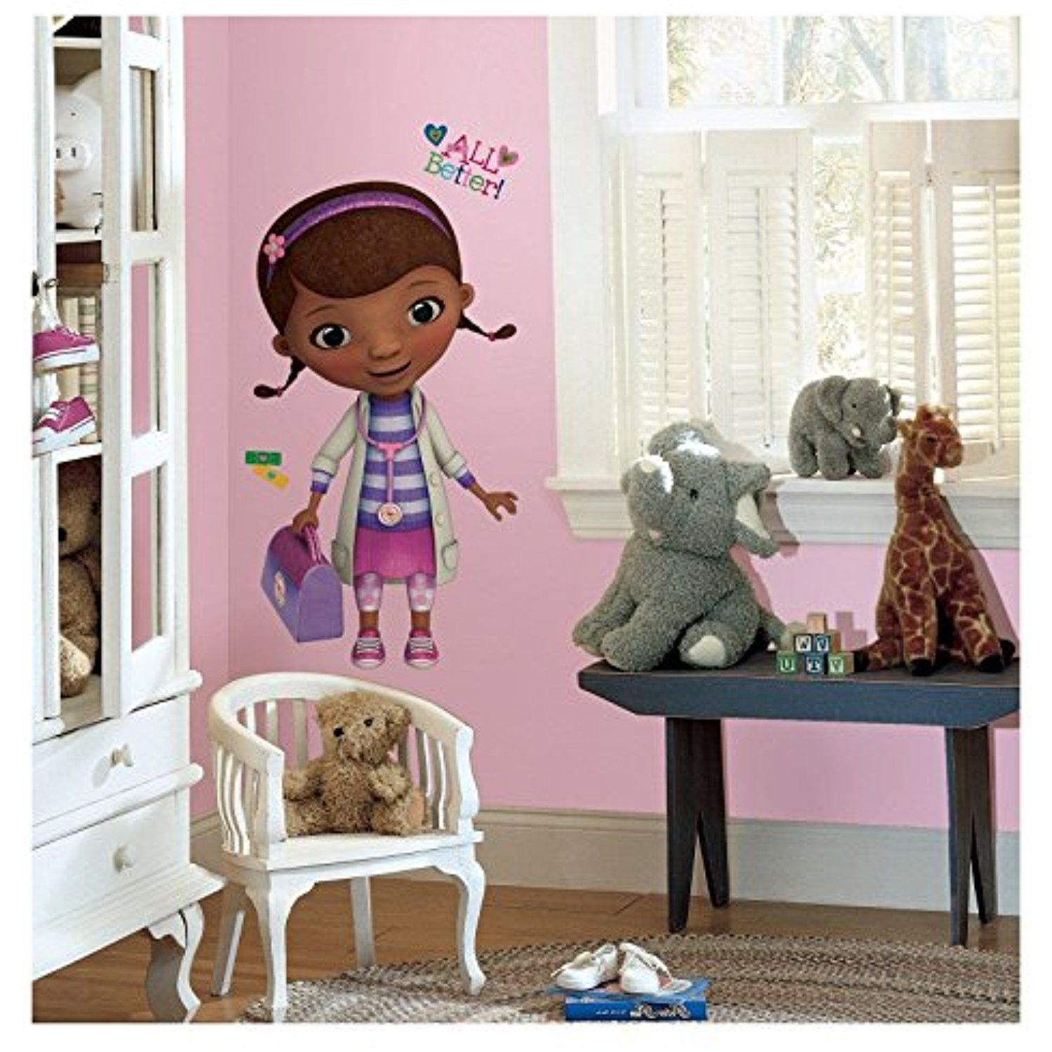 New Giant DOC MCSTUFFINS WALL DECALS Stickers Girls Bedroom Decor ...