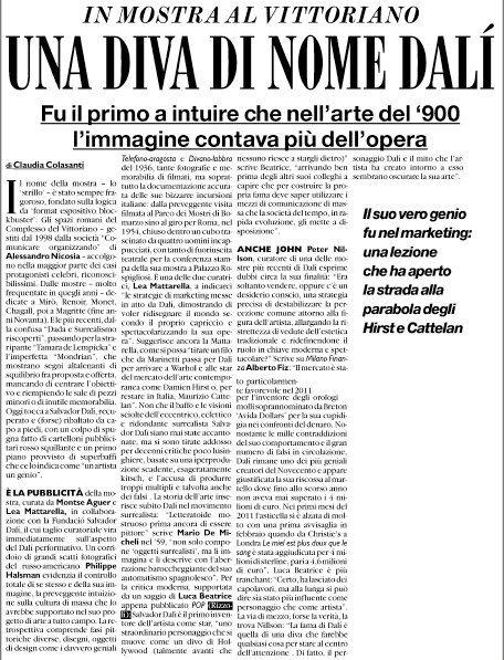 Rassegna stampa: su Il Fatto Quotidiano, il libro Pop (Rizzoli) e Salvador Dalì