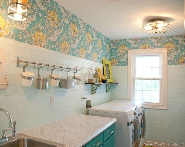 Gorgeous laundry room remodel. Both beautiful and functional.Definitely a favorite