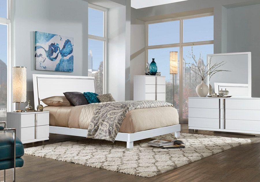 Venezia White Dresser Mirror King Bedroom White Chests White