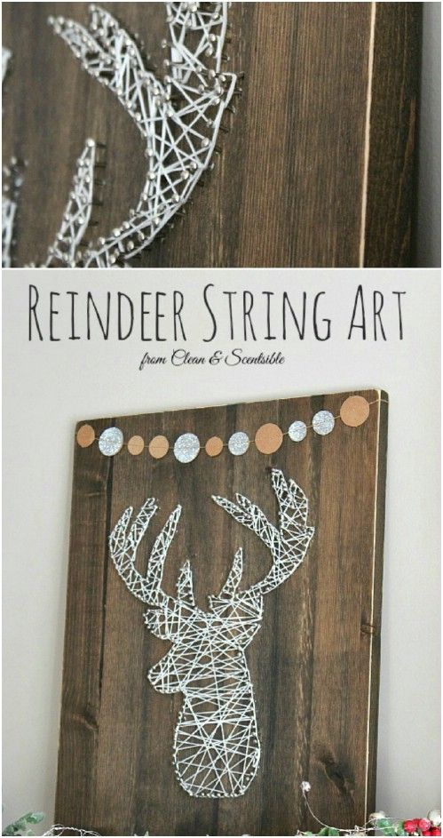 40 rustic christmas decor ideas you can build yourself string art 40 rustic christmas decor ideas you can build yourself solutioingenieria Images